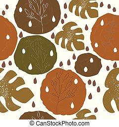 mønster, terracotta, nordisk, cute, moderne, colours.