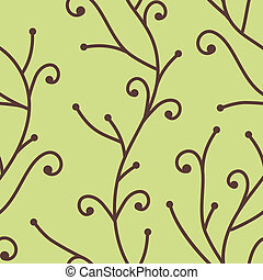 mønster, træ branch