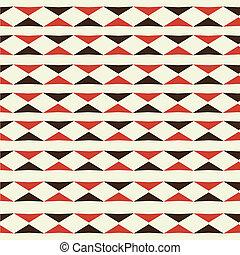 mønster, trekant, seamless