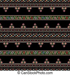 mønster, ungarsk, broderi