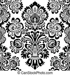 mønster, vektor, blomst, seamless