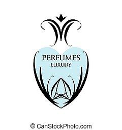 mønstre, abstrakt, vektor, perfumery, logo