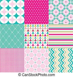 mønstre, fabric, seamless, tekstur