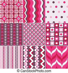 mønstre, fabric, seamless, textu