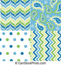 mønstre, fabric, textu, seamless