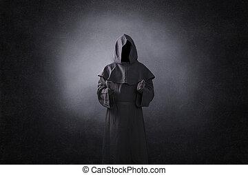mørke, ghostly, åben rækker, figur