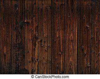 mørke, træ, gamle, tekstur, baggrund