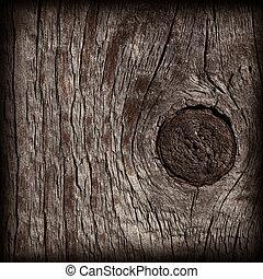 mørke, træ, gamle, tekstur