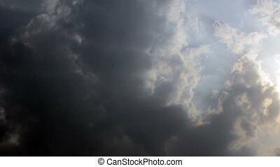múlás, ég, felhős, idő