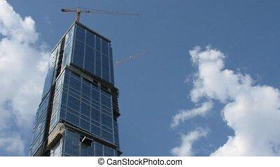 múlás, szerkesztés, elhomályosul, felhőkarcoló, idő