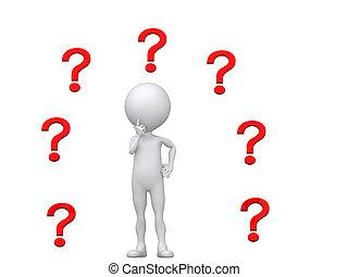 múltiplo, to?, (3d, mark), pessoa, perguntas, onde
