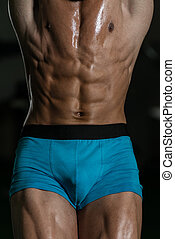 músculo abdominal, cima