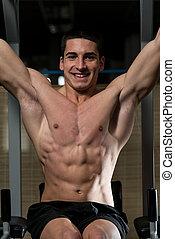 músculos abdominais, malhação