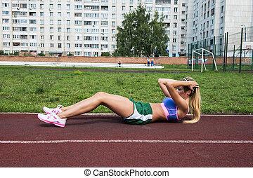 músculos abdominales, ejercicios