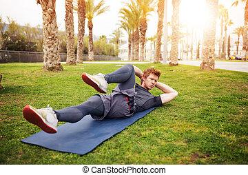 músculos, ejercicio abdominal