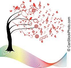 música, árbol