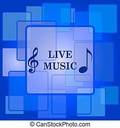 música, ícone, viver