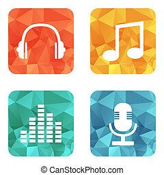 música, ícones