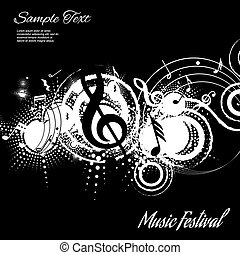 música, abstração, fundo