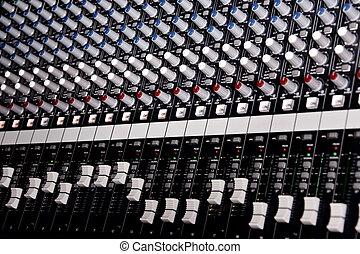 música, amplificador, misturador
