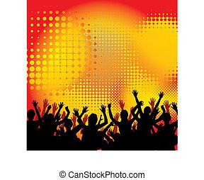 música, baile, fiesta