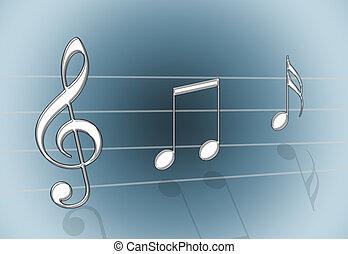 música, cinzento