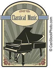 música clássica, etiqueta