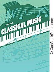 música clássica, vetorial, conceito
