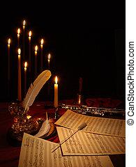 música, compondo