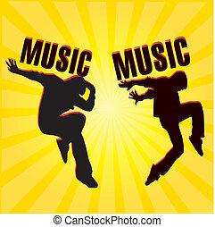 música, dançarino