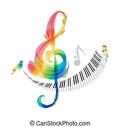 música, desenho