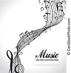 música, design.