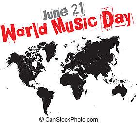 música, dia