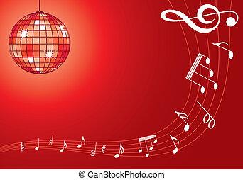 música, discoball, fundo