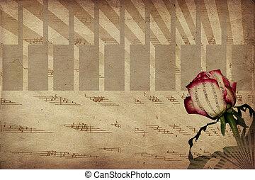 música, e, rosa
