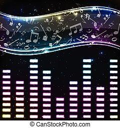 música, eq, coloridos, fundo