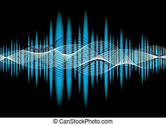 música, equaliser, onda