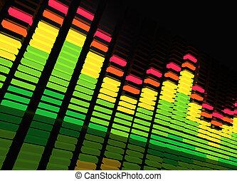 música, equalizador