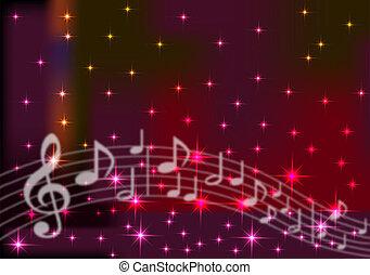 música, espaço