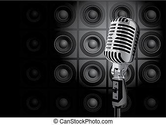 música, evento, (vector)