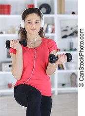 música, exercício