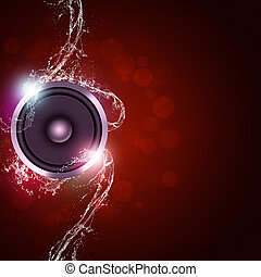 música, experiência vermelha