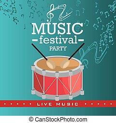 música, festival, design.