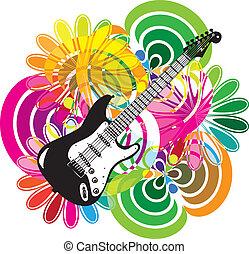 música, festival, ilustração