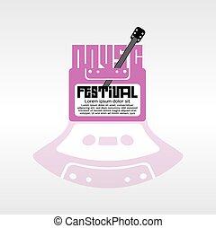 música, festival.
