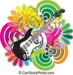 música, fiesta, ilustración