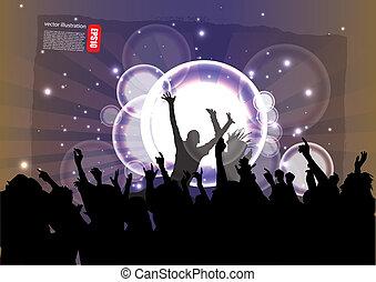 música, fiesta, plano de fondo