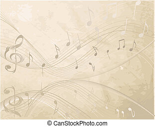 música, fundo, não, vindima