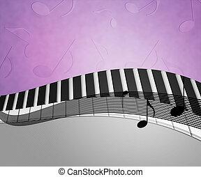 música, fundo, textura