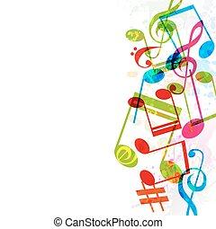 música, fundo, vetorial, abstratos